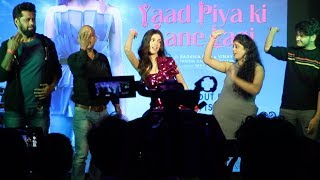 Divya Khosla Kumar AMAZING Dance With Media on Yaad Piya Ki Aane Lagi Song