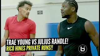 Trae Young Shows Off His SAUCY Game at Rico Hines Runs!! Goes At It w/ NBA Pros!!