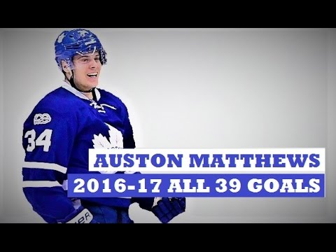 Auston Matthews (#34)  ● ALL 39 Goals 2016-17 Season (HD) -