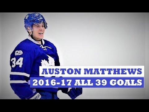 Auston Matthews (#34)  ● ALL 39 Goals 2016-17 Season (HD) - (so far)