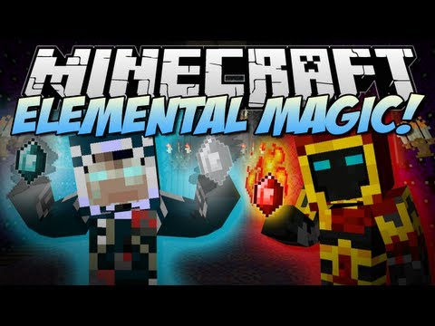 Minecraft | ELEMENTAL MAGIC! (Play with Fire, Ice & More!) | Mod Showcase [1.6.2]