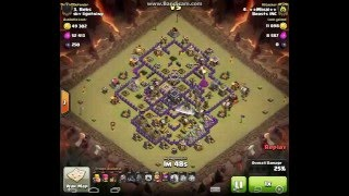 CLASH OF CLANS...3 star th9 strategy without heroes! #1