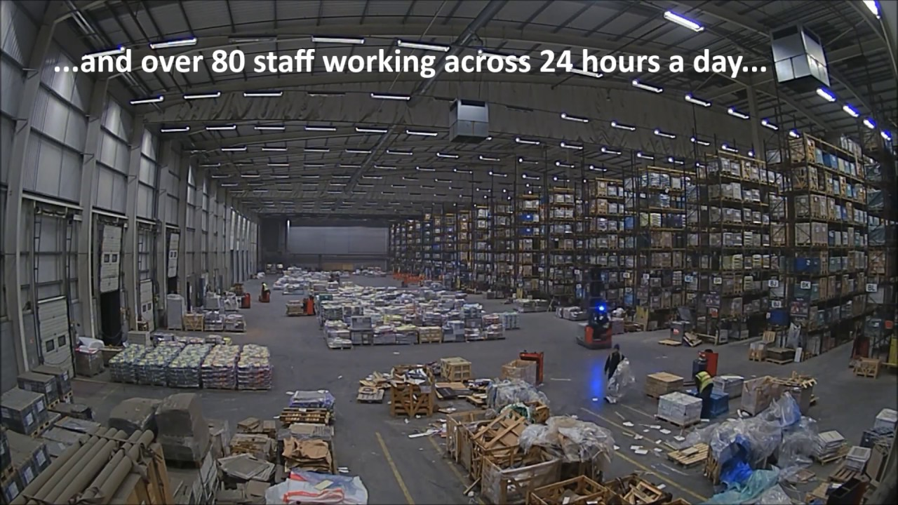 Topps Tiles Leicester warehouse: 3 days in 30 seconds