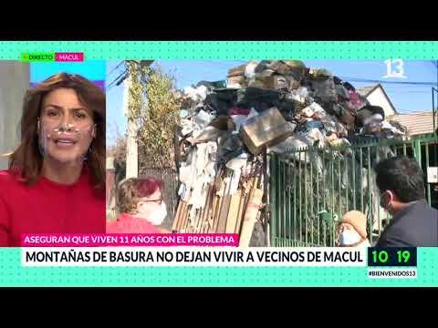 Basura en Macul, Bienvenidos, Canal 13.