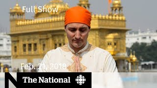 The National for Wednesday February 21, 2018 - Gun Control, Trudeau in India, Olympics