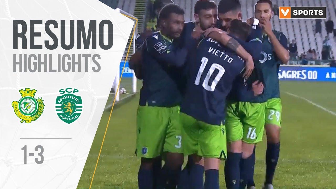 Витория Сетубал  1-3  Спортинг Лиссабон видео