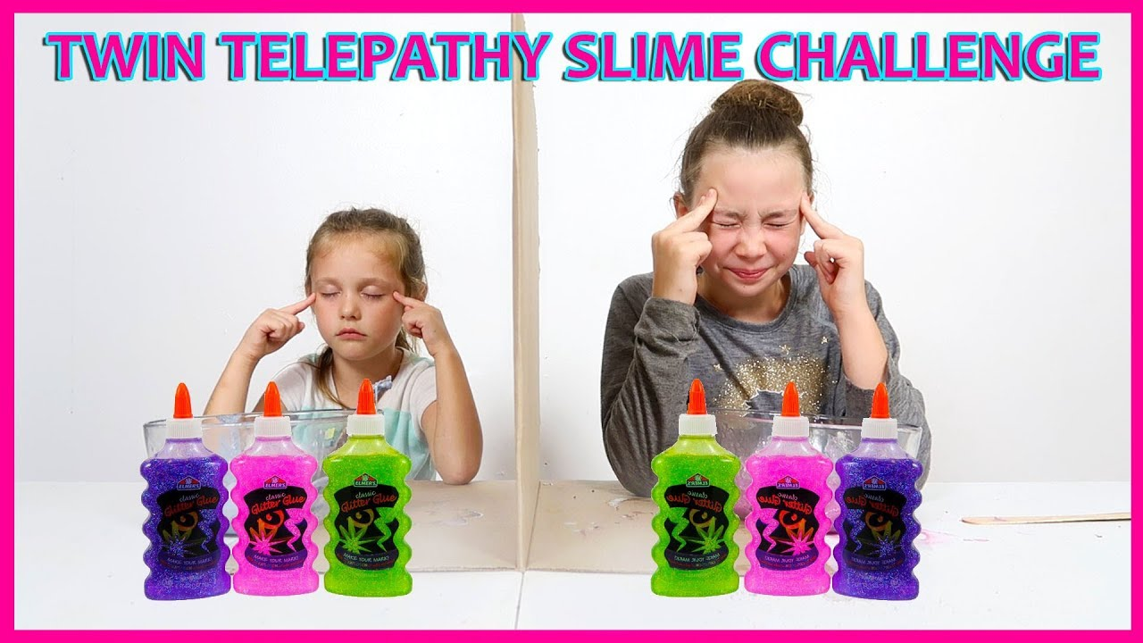 Twin Telepathy Slime Challenge The Sassy Kids Youtube