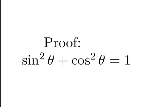 Proof: sin^2 + cos^2 = 1