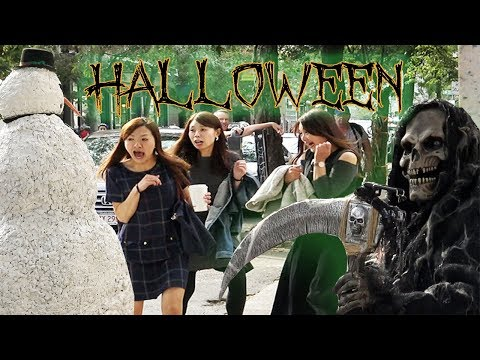 Scary Snowman Salem Massachusetts Halloween Prank (2017) Episode 1 Try Not To Laugh