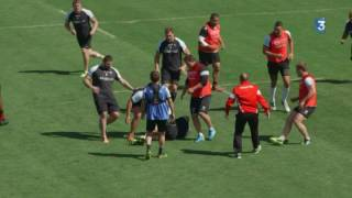 En immersion avec les joueurs du LOU Rugby