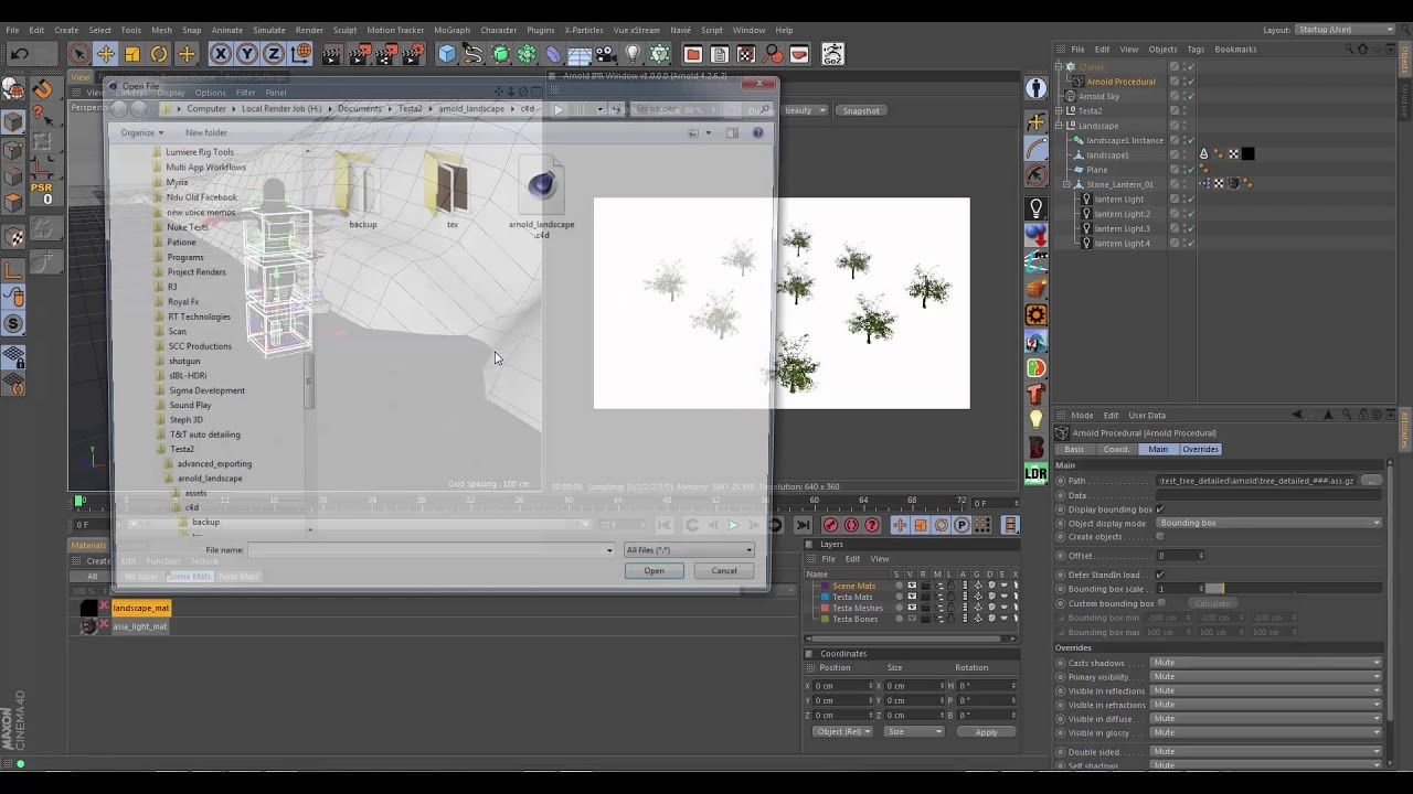 10 Using Arnold procedurals and Speedtree to create a forest Part 2