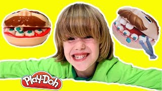 PLAY DOH Dentist DR Drill and fill - PLAYDOUGH dentist doctor drill charlie eating | GERTIT