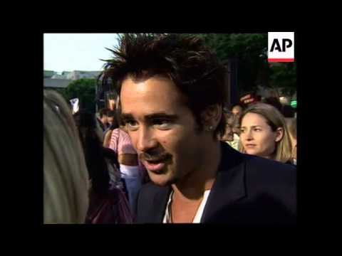 Colin Farrell swearing during interview. kisses reporter