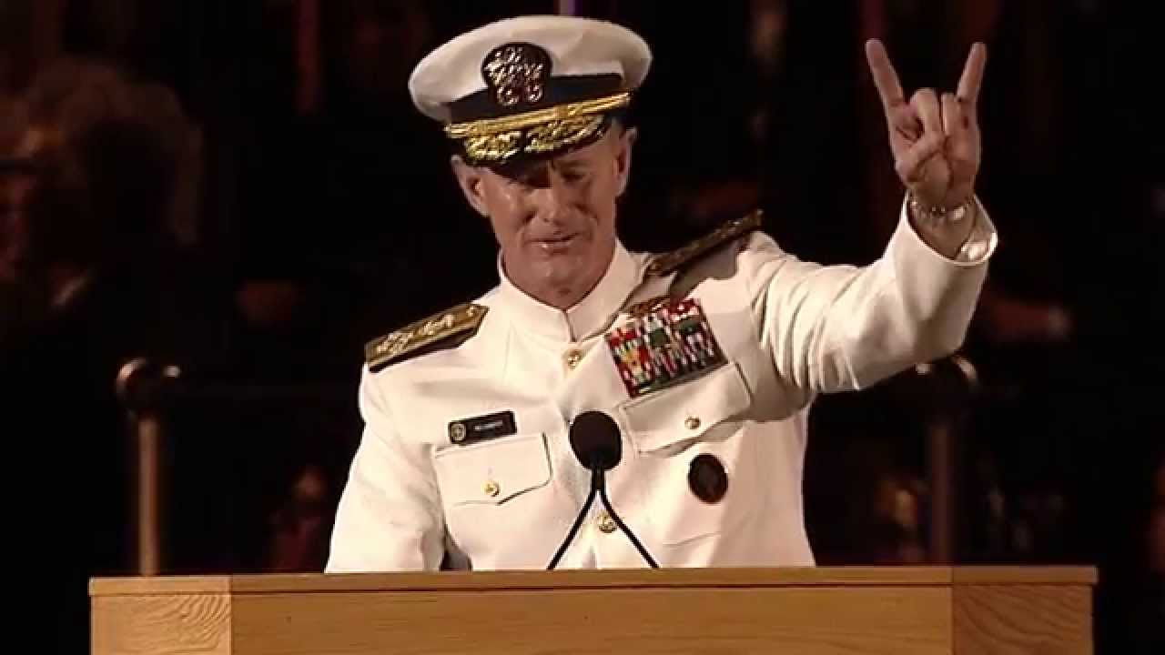 Admiral william h mcraven commencement speech