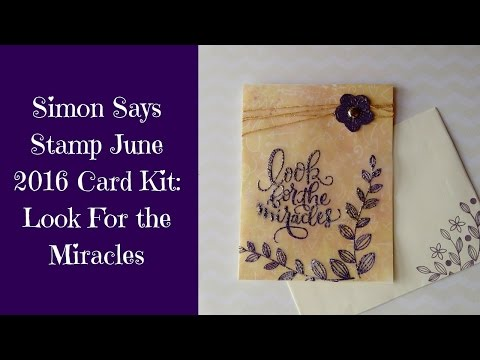 Simon Says Stamp Look for the Miracles Card Kit with Frantage Encrusted Jewels