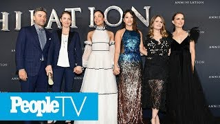 'Annihilation' Cast Members Gina Rodriguez, Tessa Thompson On Visiting 'Star Wars' Set | PeopleTV