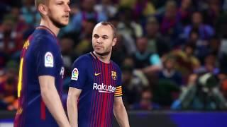El Clásico | Barcelona - Real Madrid | PES 2018 | Highlights