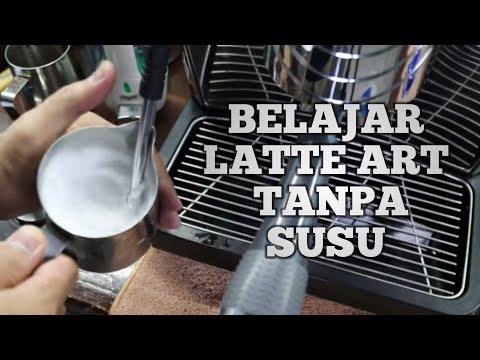 BELAJAR LATTE ART UNTUK PEMULA TANPA SUSU