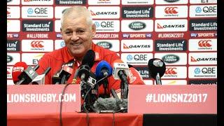 Warren Gatland discusses Lions team for second All Blacks Test thumbnail