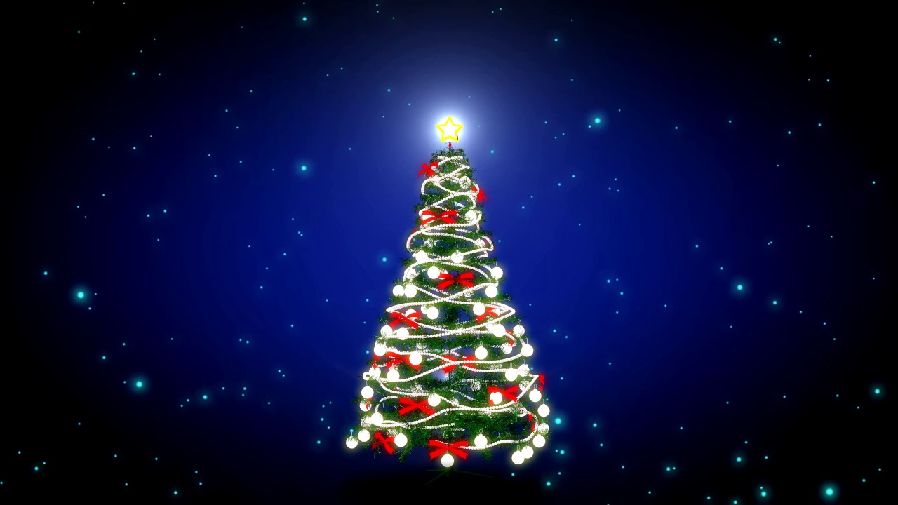 4k 5min Christmas Tree Video Background Christmas Carol Video
