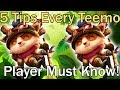 5 Tips That Every Teemo Player Must Know!! Teemo Guide League of Legends (Low Elo)