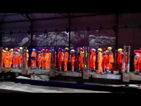 Switzerland celebrated the Gotthard railway tunnel opening with this event