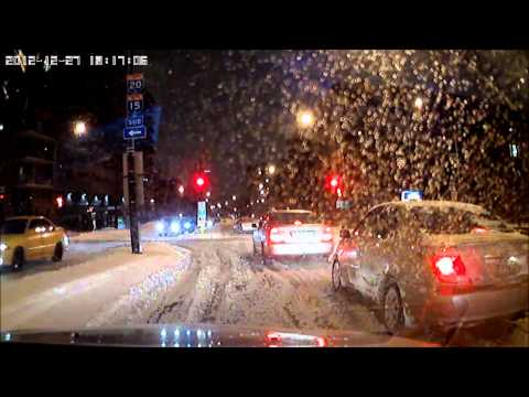 [Timelapse] Montreal Downtown to West-Island snow storm part 2