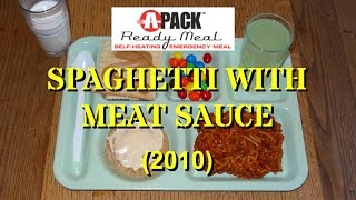 MRE Review: APack Spaghetti with Meat Sauce from Ameriqual (2010)