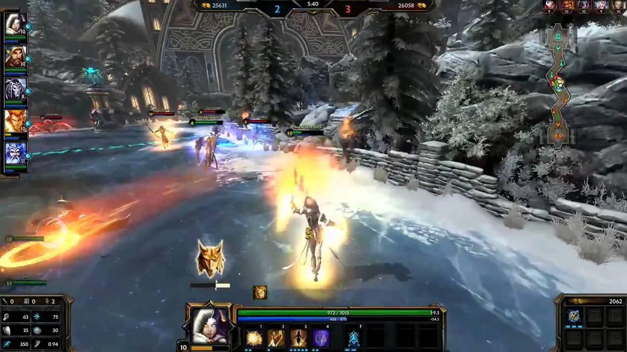 Smite Gameplay Assault Hel Heal bot