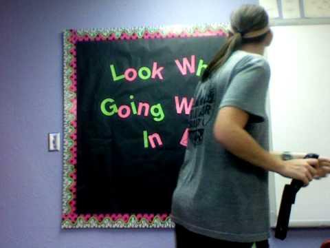 writing bulletin board idea black