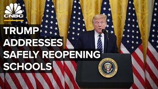 Trump addresses reopening schools amid nationwide coronavirus spikes – 7/7/2020
