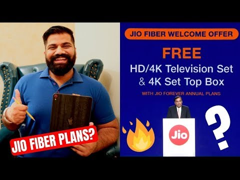 Jio Fiber Welcome Offer - Free 4K TV - PUBG - 1Gbps Internet - Jio HoloBoard - Jio Fiber Plans 🔥🔥