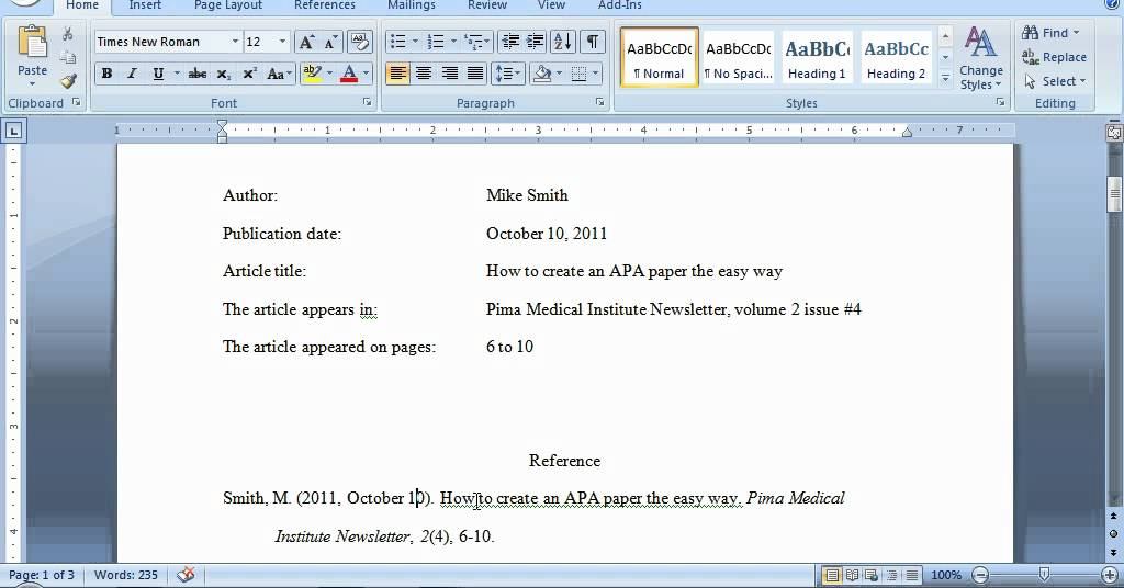how to give apa references