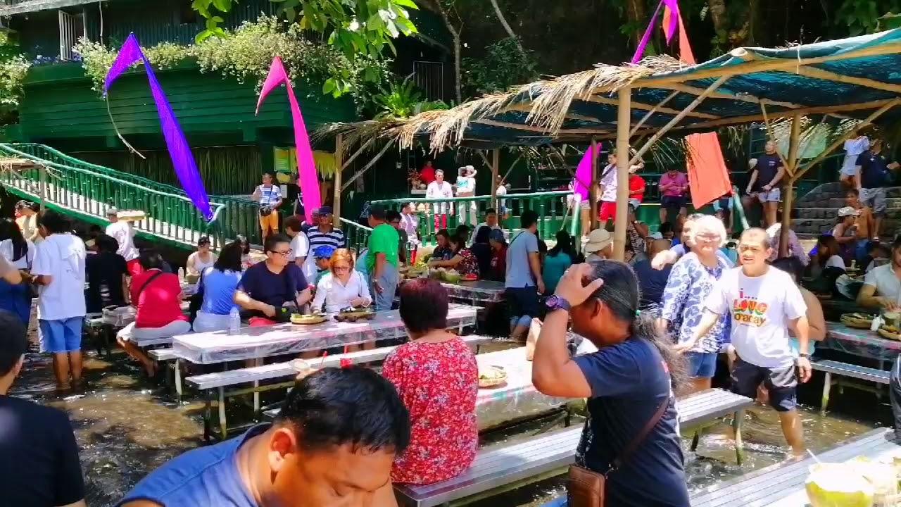The Labasin Waterfalls Restaurant Is One Of The Center Pieces Of Hacienda Villa Escudero Plantation Youtube