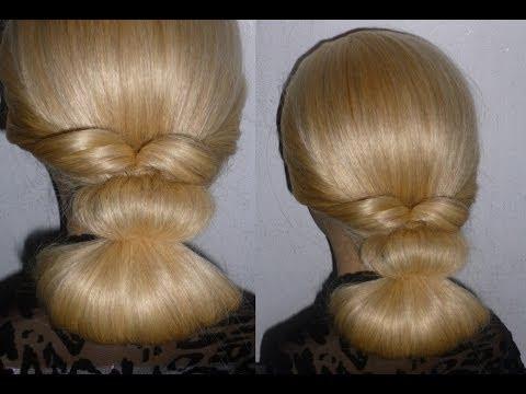 EINFACHE Frisuren für mittel/lange Haare.Hair Bun Updo Hairstyle.Peinados