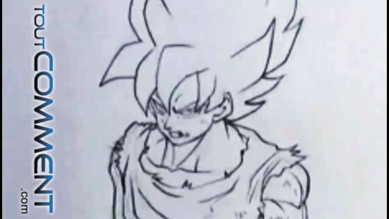 Dessin de sangoku draw sangoku dragon ball z youtube - Dessin de dragon ball super ...
