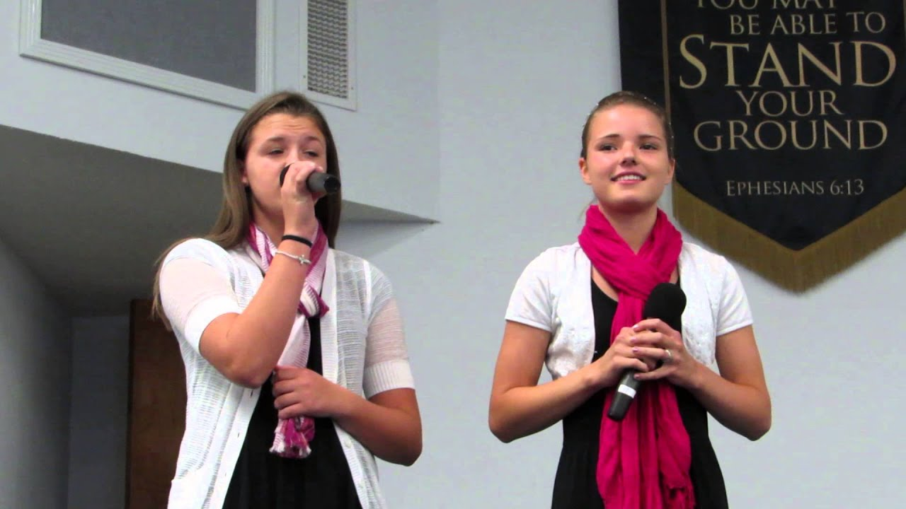 Emmy And Karli Singing I Believe At Hickory Hammock