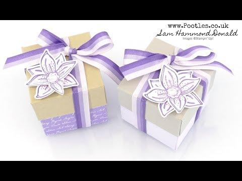 Lidded Box Tutorial using Beautiful Purples