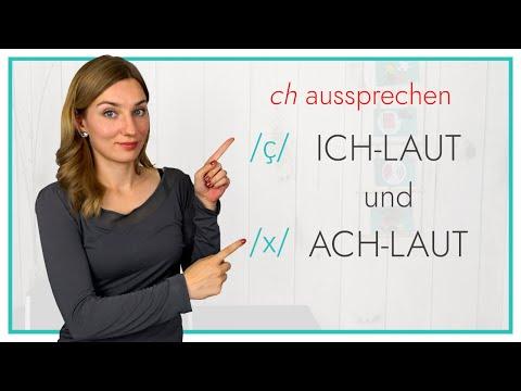 """Wie spricht man """"ch"""" aus?   Ich - und Ach-Laut"""