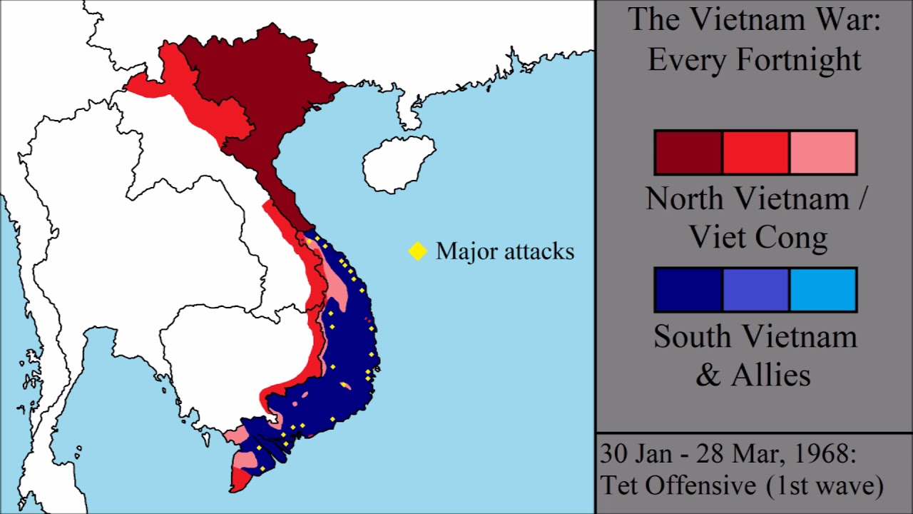 The Vietnam War Every Fortnight YouTube - Us invasion of afghanistan everyday map