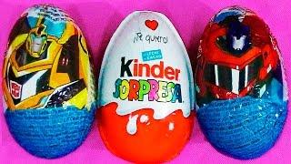 Huevo kinder en español y huevos sorpresa de transformers,  la película