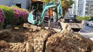 Korean Excavator 소화전 상수도 급수 포크…