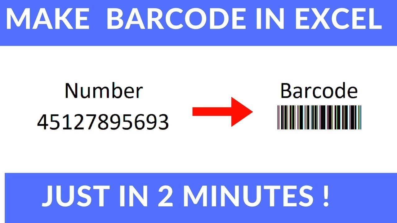 Make Barcode In Excel Youtube
