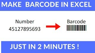 Zorg Barcode in Excel