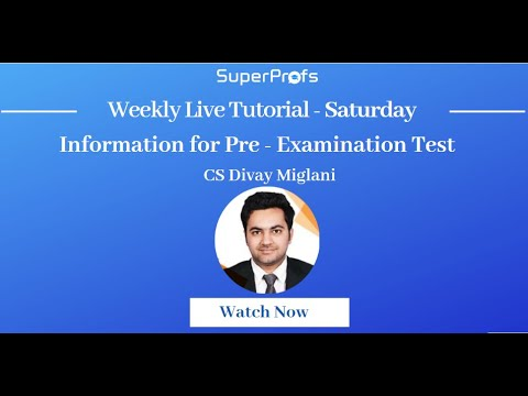 How to clear ICSI Pre-exam test - Company Secretary - Tips to clear CS  Pre-exam Test