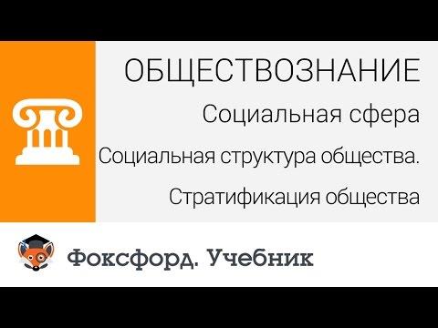 Социальная структура общества. Стратификация общества. Центр онлайн-обучения «Фоксфорд»
