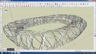Beijing China Olympic Stadium-Sketchup/Modeling