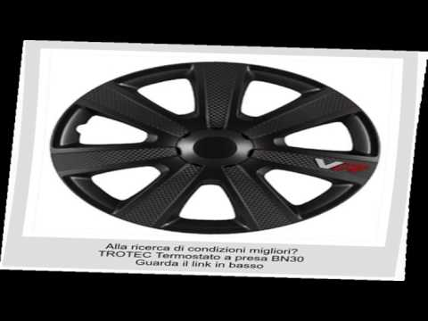 4 pezzi AutoStyle VR Nero Set Copricerchio Vr Nero//Carbon Look//Logo