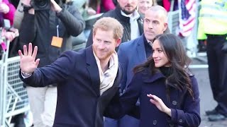 Prince Harry, Meghan Markle attend first public event since revealing engagement