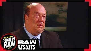 Paul Heyman FIRED BY BROCK? WWE Raw 8/6/18 Review & Results! Going In Raw Podcast